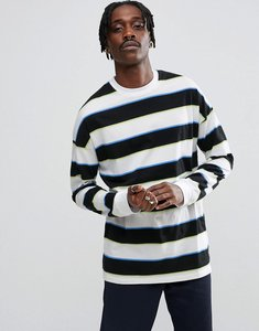 ce0a06453b1b Read more about Asos oversized stripe long sleeve t-shirt with block stripe  - white