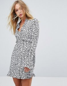 Read more about Millie mackintosh printed frill dress - ditsy mono