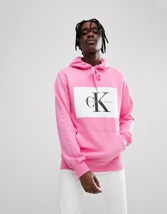 Read more about Calvin klein jeans hoodie with re-issue box logo - wild orchid