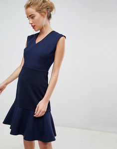 Read more about Closet london drop hem mini skater dress in navy - navy
