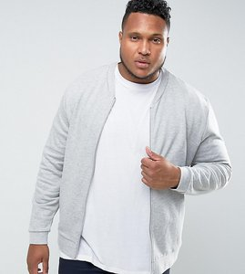 Read more about Asos plus jersey bomber jacket in grey marl - grey marl
