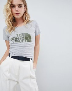 Read more about The north face women s easy t-shirt in grey - tnf light grey heath