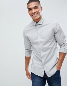 Read more about Asos design slim shirt in light grey - grey