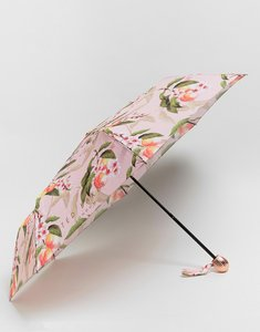 Read more about Ted baker compact umbrella in peach blossom print - pink