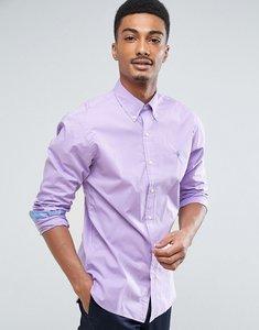 Read more about Polo ralph lauren slim fit poplin shirt buttondown in purple - frost purple