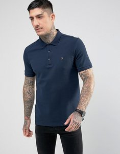 Read more about Farah blaney pique polo slim fit in navy - navy 431