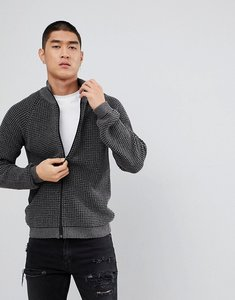 Read more about Asos textured track jacket in grey - grey