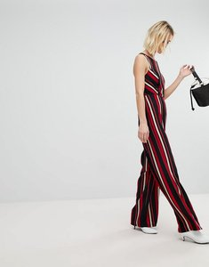 Read more about New look stripe wide leg jumpsuit - black pattern