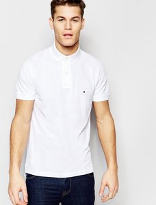 Read more about Tommy hilfiger polo in slim fit white - white