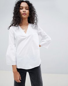 Read more about Jdy stella flared sleeve blouse - white