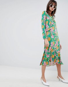 Read more about Asos design relaxed tea dress in bold floral print - floral print