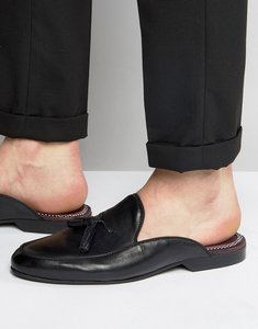 Read more about House of hounds backless leather loafers - black