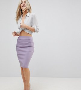 Read more about Asos petite high waisted pencil skirt - lilac