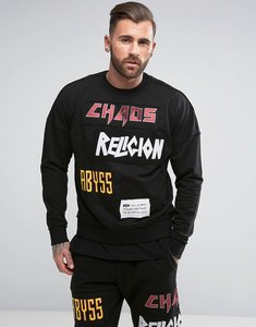 Read more about Religion sweatshirt with patches - black