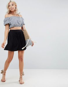 Read more about Asos mini skater skirt - black