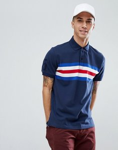 Read more about Tommy hilfiger andrew icon chest stripe slim fit polo in navy - navy blazer