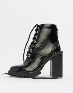 fb8f63dbedbb asos design attitude chunky lace up boots white - Shop asos design ...