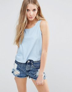 Read more about Glamorous sleeveless top - light blue chambray