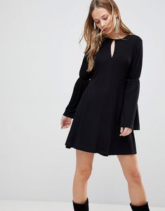 Read more about The fifth countdown flared sleeve dress - black
