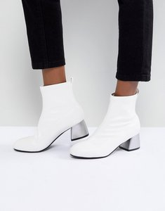 Read more about Park lane mid heel sock boot - white pu