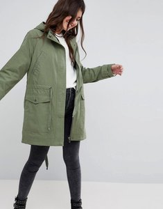 Read more about Asos design summer parka with jersey lining - khaki