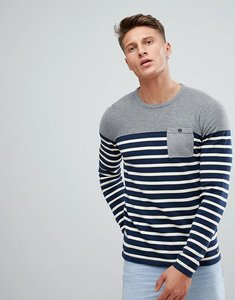 Read more about Esprit stripe jumper with grey panel - navy 400