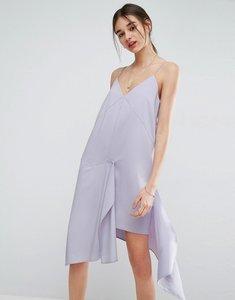 Read more about Asos raw edge asymmetric hem cami dress - lilac