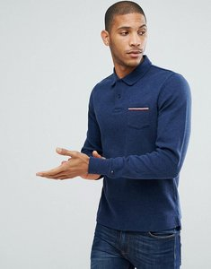 Read more about Tommy hilfiger kent long sleeved polo with pocket detail in navy - navy