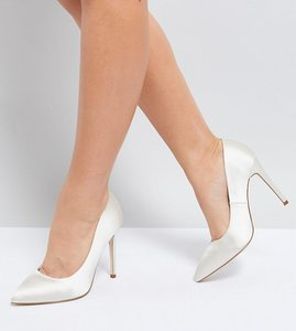 Read more about Asos paris wide fit pointed high heels - ivory
