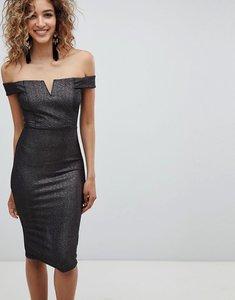 Read more about Ax paris bardot midi dress - black