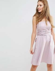 Read more about Asos design bridesmaid structured mini dress with bow detail - dusty lilac
