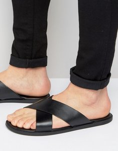 Read more about Dune iago leather sandals - black