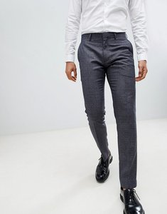 Read more about Farah skinny smart trouser in check texture - yale