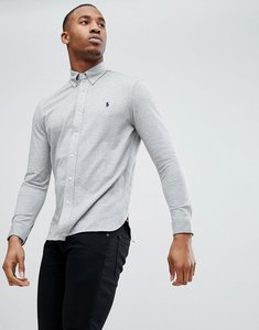 Read more about Polo ralph lauren slim fit pique shirt player logo button-down in grey marl - grey