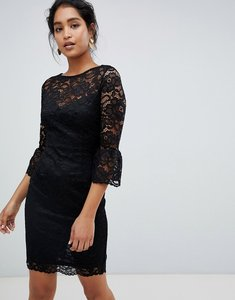 Read more about Paper dolls lace midi dress with frill sleeve in black