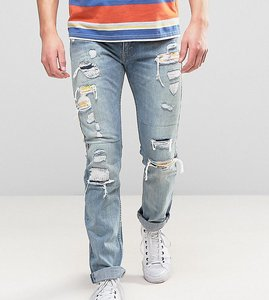 Read more about Levis 505c slim fit orange tab jeans harry wash - harry ot