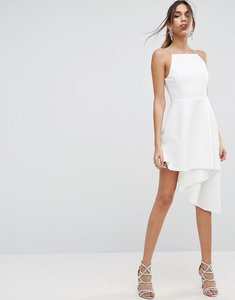 Read more about Asos asymmetric hem pinny skater dress - ivory