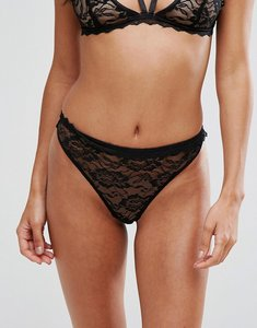 Read more about Prettylittlething lace thong - black