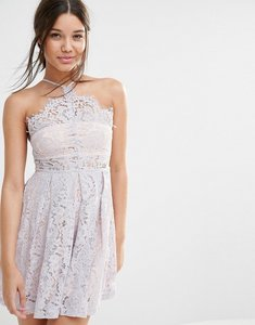 Read more about Missguided strappy lace skater dress - lilac