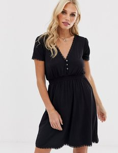Read more about Stradivarius button front shirred waist dress