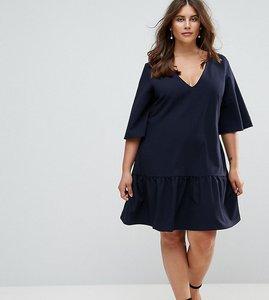Read more about Closet london plus drop waist mini dress - navy