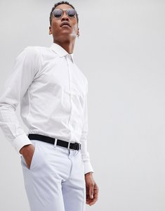 Read more about French connection slim fit poplin shirt - white