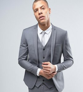 Read more about Noak super skinny suit jacket - pale grey