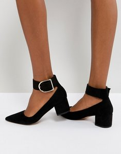 Read more about Asos samber mid heels - black
