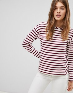 Read more about Esprit stripe long sleeve top - off white