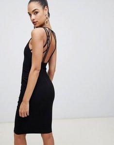 Read more about Vesper strappy back midi dress in black