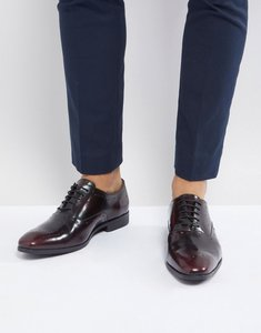 Read more about Asos oxford brogue shoes in burgundy leather - burgundy