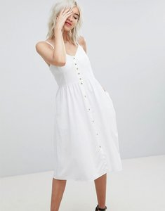 Read more about Rolla s linen button detail dress - white