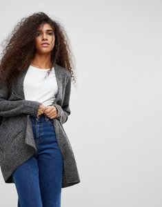 Read more about B young longline mohair mix cardigan - dark grey