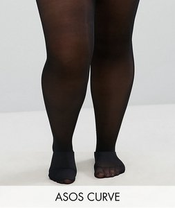 Read more about Asos curve 2 pack 50 denier tights - black